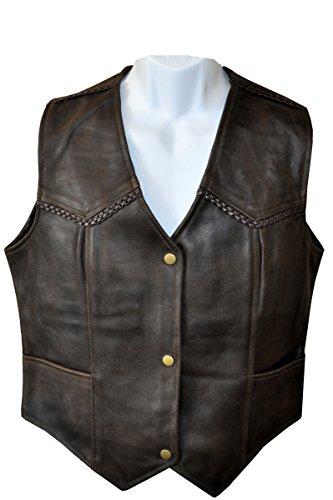 - LnL Leather Vest Brown (XXX Large) Ladies Size & Cut