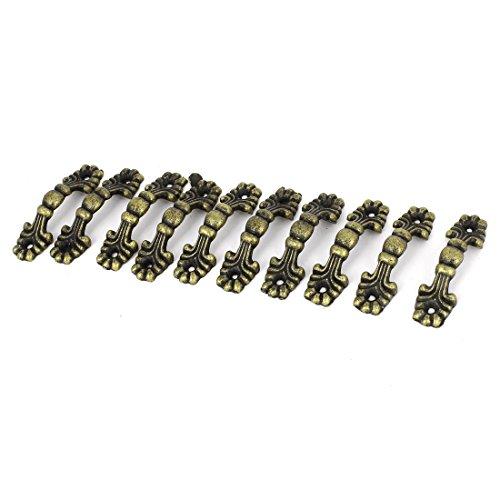 Jewelry Box Door Drawer Arch Shape Pull Handle Bronze Tone 10pcs