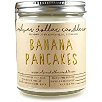 Banana Pancakes Scented Candle 8oz, Natural Soy Wax candle by Silver Dollar Candle Co.