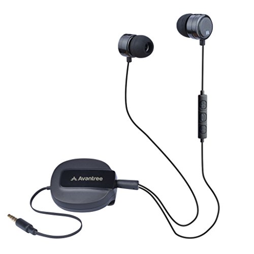 Avantree Retractable Isolation Earphones Microphone product image