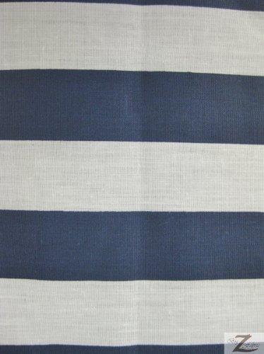 Amazoncom Bluewhite 1 Stripe Poly Cotton Fabric 5859 Width