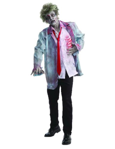 Men's Zombie Man Costume, Multi-Colored, One (Halloween Men Costume Ideas)