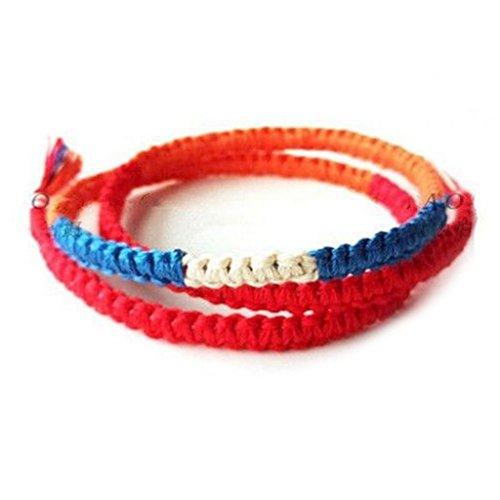 Movie Your Name Harajuku Wrap Bracelets Japan Anime Braided Red Rope Bracelets Pulsera Boho Jewelry Best Friend Gift Women/Men