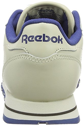 Leather Classic navy Beige Basses Baskets ecru Reebok Femme 54dzaqxaw