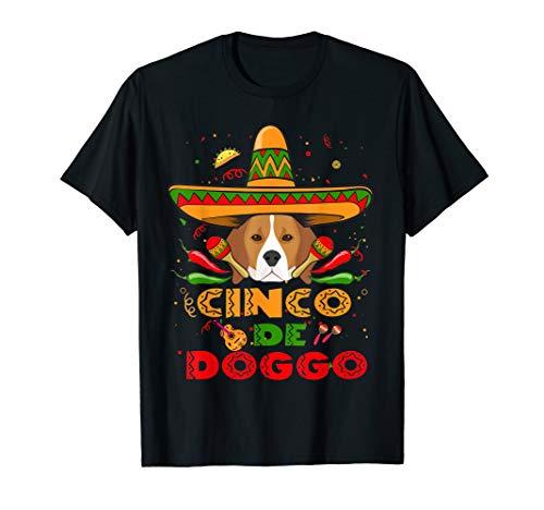 Cinco de Doggo Beagle Dog Shirt Cinco De Mayo T-Shirt ()