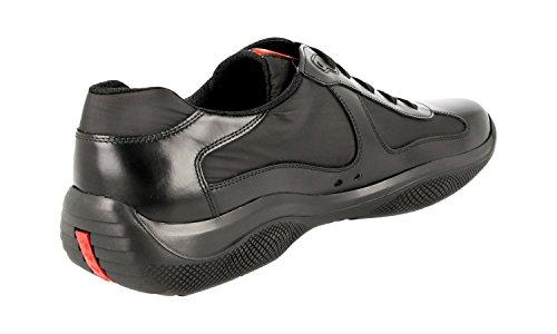 Prada Menns 4e2043 Skinn Sneaker