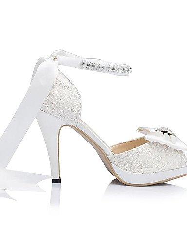 GGX/ Damen-Hochzeitsschuhe-Zehenfrei / Plateau-Sandalen-Hochzeit / Kleid / Party & Festivität-Elfenbein / Weiß 4in-4 3/4in-white