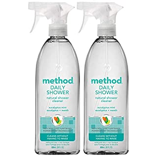 Method Daily Shower Spray - Eucalyptus Mint - 28 Fl Oz (Pack of 2)