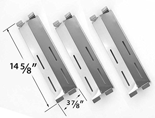 [3 Pack Replacement Stainless Steel Heat Shield for Fiesta Ble Ember FG50057, FG50069, FG50069S, FG500057-103, FG50057-703NG, FG50069, FG50069-U409 and Grand Hall MFA05ALP, P01708004A Gas Models] (Coastal 9900 Gas Grill)