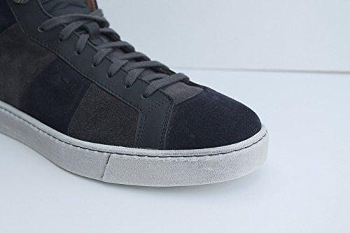 Santoni Suede Mens Trainers Grey cheap sale fake 8IoryhqIp