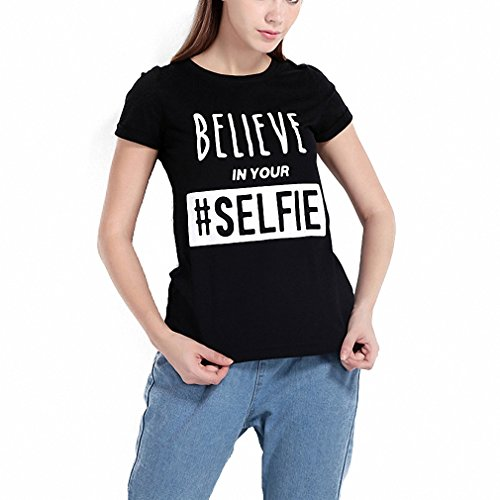 NEW Fashion Letter Print Basic Tops Women Short Sleeve Female Pullover Tops Street Black O-neck Loose Casual T-shirt