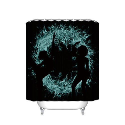 Prime Leader Lady Shadow Fire Dance Waterproof Bathroom Fabric Shower Curtain,36''(w) x 72''(h) with Hooks by Prime Leader