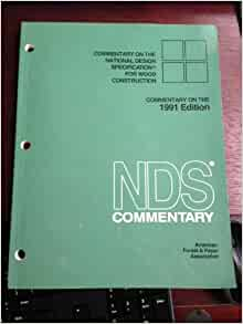 Ansi Nfopa Nds 1991 National Design Specification For Wood