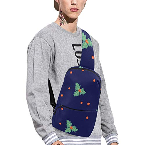 Sling Shoulder Bag Fashion Poinsettia Hand-painted Flowers Crossbody Bag Daily Sports Climbing Or Multi-purpose Backpack Men And Women Ladies And Teens ()