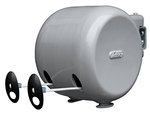 Minky Retractable Reel Outdoor Dryer, 98-Feet Line Drying (Clothes Dryer Clothesline)