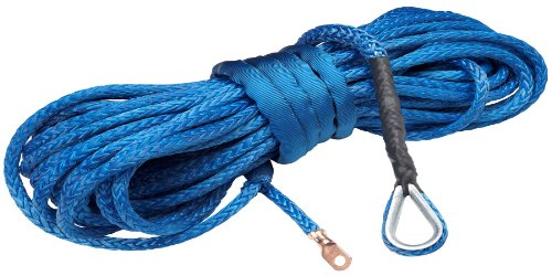 For Sale! 100 ft AmSteel®-Blue Synthetic Recovery 4x4 Truck Winch Cable/Rope - BLUE