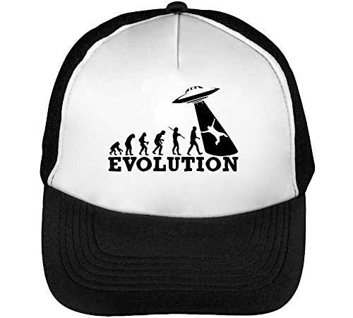Snapback Gorras Blanco Negro Beisbol Hombre Evolution Aliens wYtcz