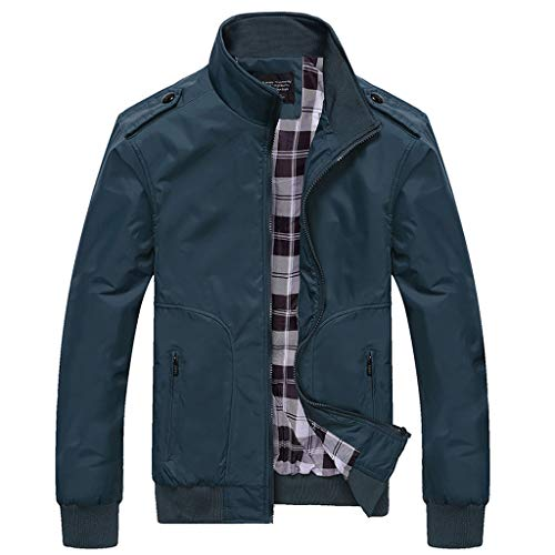 Ballad Men's Quilted Jacket Slim-Fit Waisted Transitional Jacket Lightweight Warm Lined Winter Zipped Pocket Down Coat Green (Tom Brown Tracker Knife Sheath For Sale)