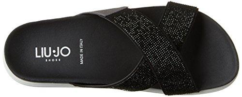 Liu Jo Vrouwen Naoko Kriskras Open Sandalen Zwart (black)