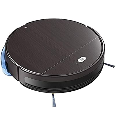 Alexa Smart Robot Vacuum Cleaner - Automatic Gyroscope Navigation, Moblie App - Auto Recharge Dock, Dust Bin, Brush, HEPA Filter, Remote - Hardwood Tile Carpet Floor - Pure Clean PUCRC850