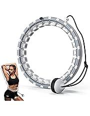 Slimme fitnessring, hoelahoep voor volwassenen met zwaartekrachtbal, 24 afneembare onderdelen Hulahub-hoepel voor afslanken Slimme hoepel voor beginnende kinderen Gewichtsverliestraining en fitness