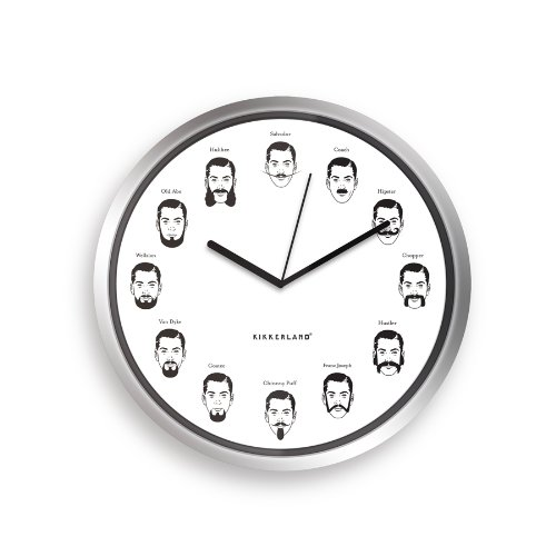 Kikkerland The Gentlemen's Wall Clock, (Elvis Side Burns)