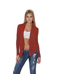 Hollywood Star Fashion Women's Shawl Collar Long Sleeve Cardigan Open Front