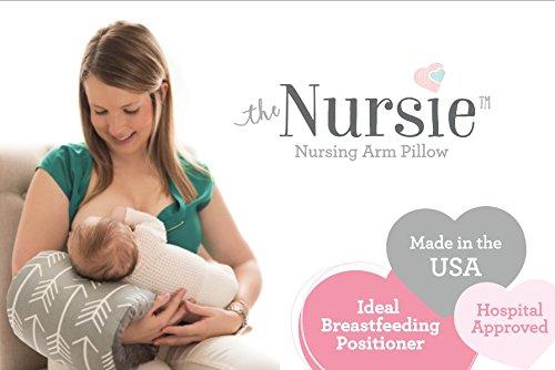 The Nursie Slip On Breastfeeding Arm Pillow Nursing