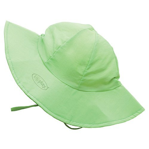 i play Solid Brim Sun Protection Hat for Unisex (0-6 Months, Newborn, Lime) by I Play