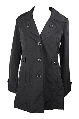 - London Fog Belted Rain Coat Black Medium