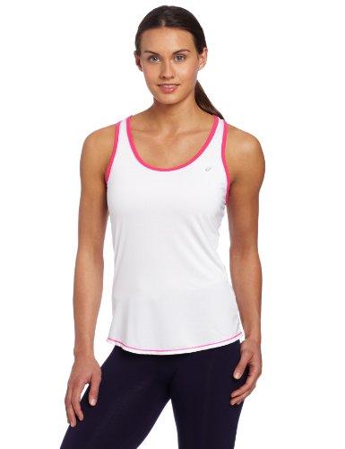 Asics Women's Emma Racerback, X-Large, White/Pink Glow