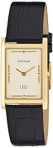Titan Edge Analog Champagne Dial Men's Watch - NC1043YL05 ()