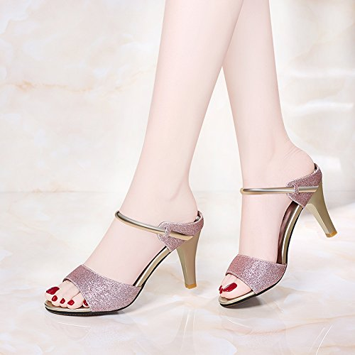 HUAIHAIZ Tacones de mujer Sandalias hembra elegante de alta Heel Shoes sandalias y calzado, noche,39, Púrpura 39 The Purple