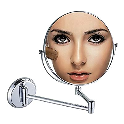 Keyzone Enchanting Float Mirror Mount Magnifying Wall Mirror Double Sided Makeup Mirror Fascinating