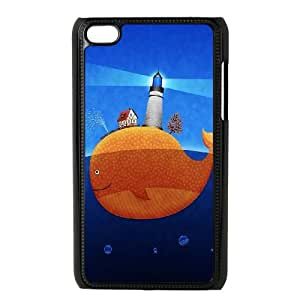 iPod Touch 4 Case Black Lighthouse at the whale back Wjaxr