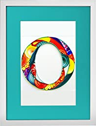 Monograms - Modern Paper Quilled Wall Art for Home Decor (one of a kind paper quilling handcrafted piece made with love by an artist in California)