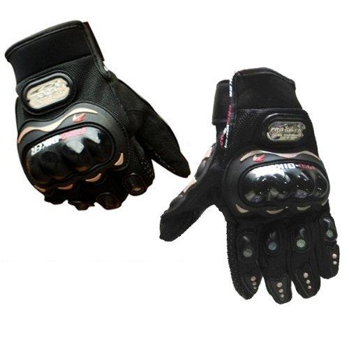 Pro-Biker Bicycle Motorcycle Motorbike Powersports Racing Gloves (L, Black)