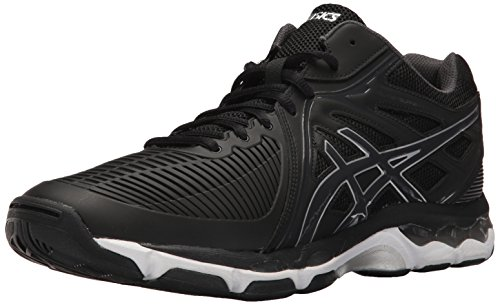 Price comparison product image ASICS Men's Gel-Netburner Ballistic MT Volleyball-Shoes, Black/Dark Grey/Silver, 10.5 Medium US