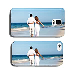 Romantic couple walking on beach cell phone cover case iPhone6 Plus