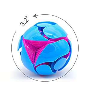Switch Pitch Ball, 2 Set Magic Telescopic Balls Throwing Discoloration Ball Educational Toy Ball for Kids