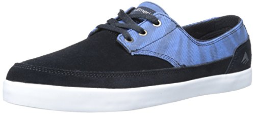 Emerica Men's Troubadour Low Skateboard Shoe, Navy/Blue, 10.5 M US