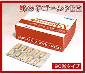 蜂の子 ゴールドEX 90粒×1箱 お得用タイプ (蜂の子末 イチョウエキス 配合) B006NR13EQ