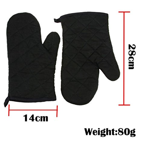 Wall of Dragon Hot 1Pair Cotton Thick Kitchen Baking Cook Insulated Padded Oven Gloves Mitt RU