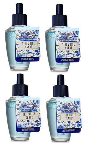 (Bath and Body Works 4 Pack Fiji White Sands Wallflowers Fragrance Refill. 0.8 fl oz.)