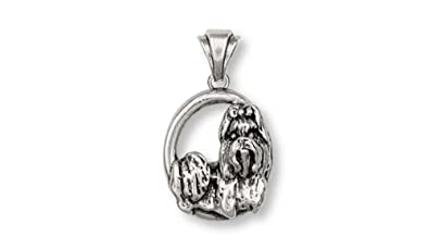 Amazoncom Shih Tzu Jewelry Sterling Silver Shih Tzu Pendant
