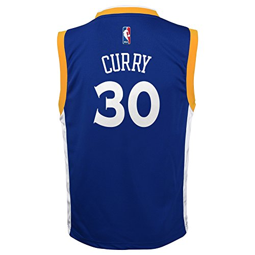 NBA Youth 8-20 Golden State Warriors Curry Replica stretch Alternate jersey
