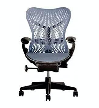amazon com herman miller mirra chair fully adjustable fog blue