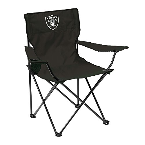 (Logo Brands NFL Oakland Raiders Quad Chair Quad Chair, Charcoal, One Size)