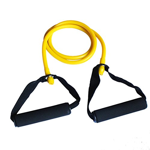 Andux Land Pilates Resistance Tubing Deluxe Foam Handles Tld-09 (yellow) For Sale