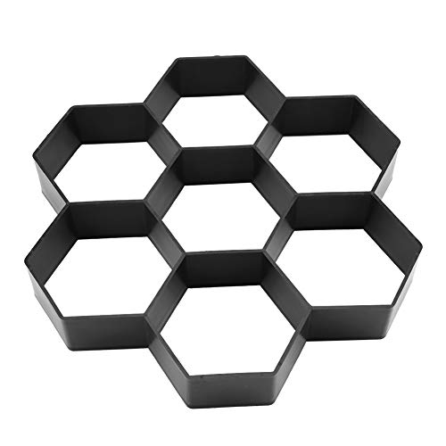 Zerodis 1Pc 29.528CM Paving Stone Mold DIY Garden Path Maker Mold Concrete Stepping Stone Cement Paving Hexagonal Mould
